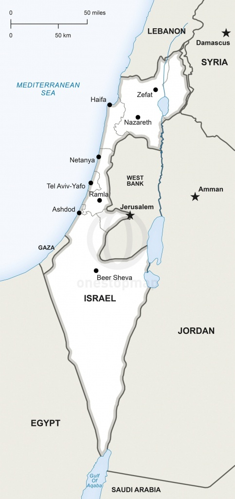 Map Of Israel Political In 2019   Maps   Map, Map Vector, Israel - Blank Map Israel Printable