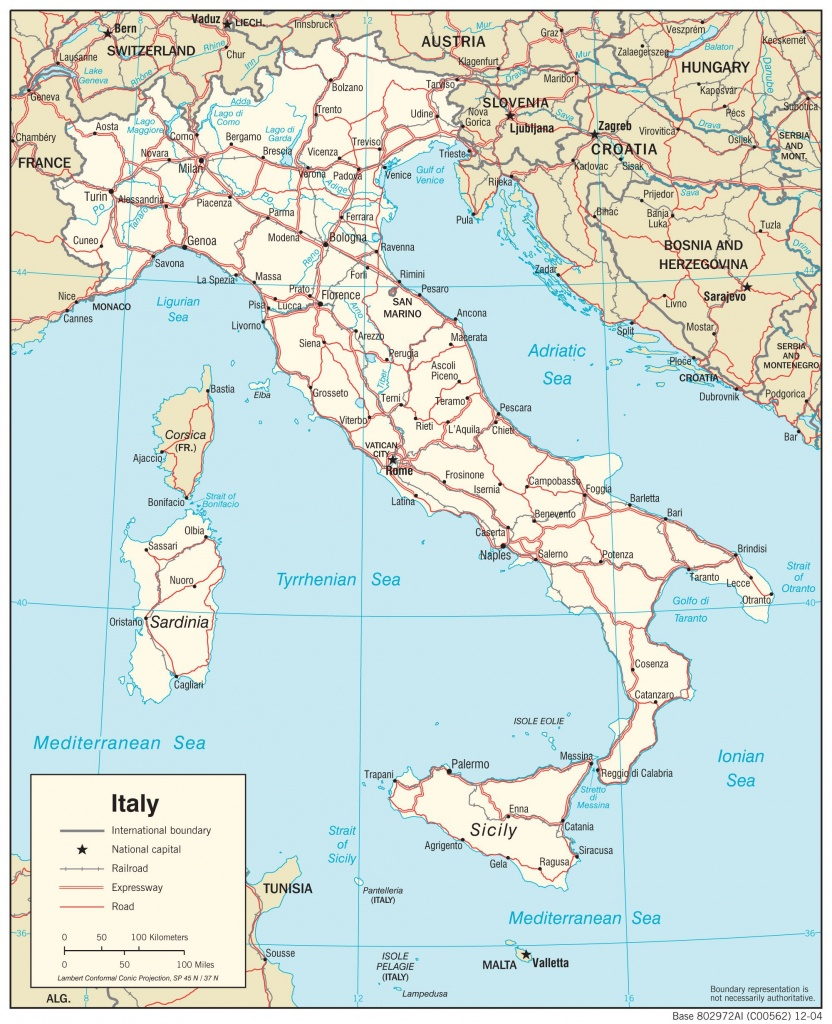 Map Of Italy - Free Large Images | Interesting Maps Of Italy | Italy - Large Map Of Italy Printable