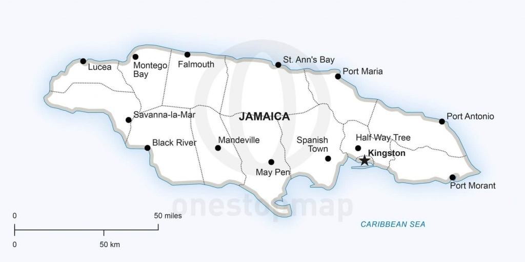Map Of Jamaica Political - Printable Map Of Jamaica