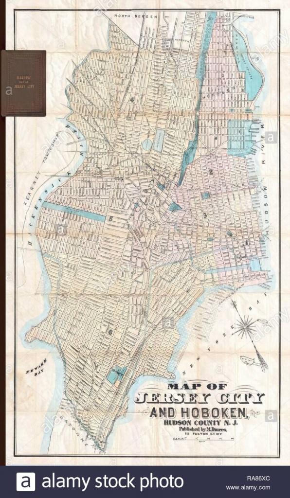 Map Of Jersey City Stock Photos & Map Of Jersey City Stock Images - Printable Street Map Of Jersey City Nj