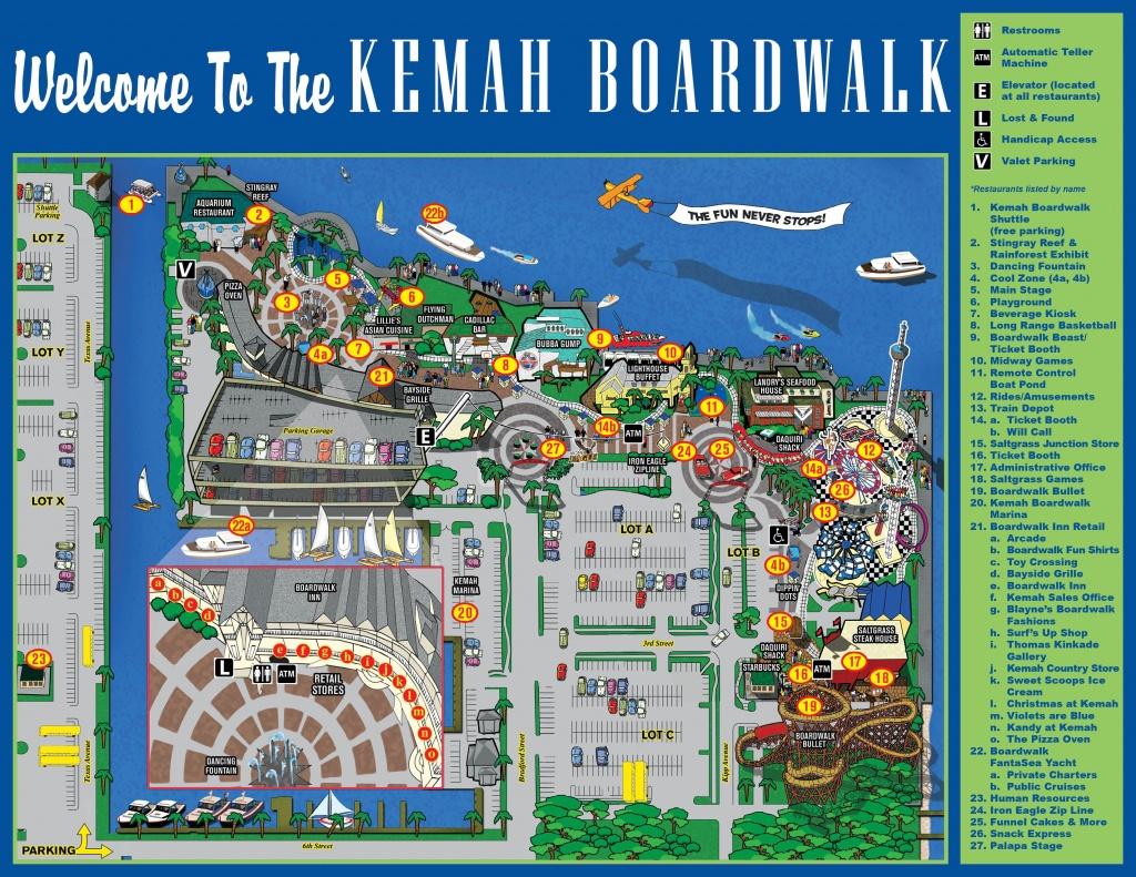 Map Of Kemah Boardwalk | Places To Go | Kemah Boardwalk, Kemah Texas - Texas State Aquarium Map