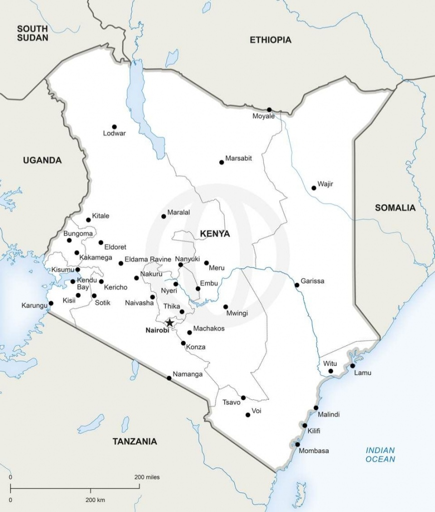 Map Of Kenya Political | Other Places | Map, Map Vector, Africa Map - Printable Map Of Kenya