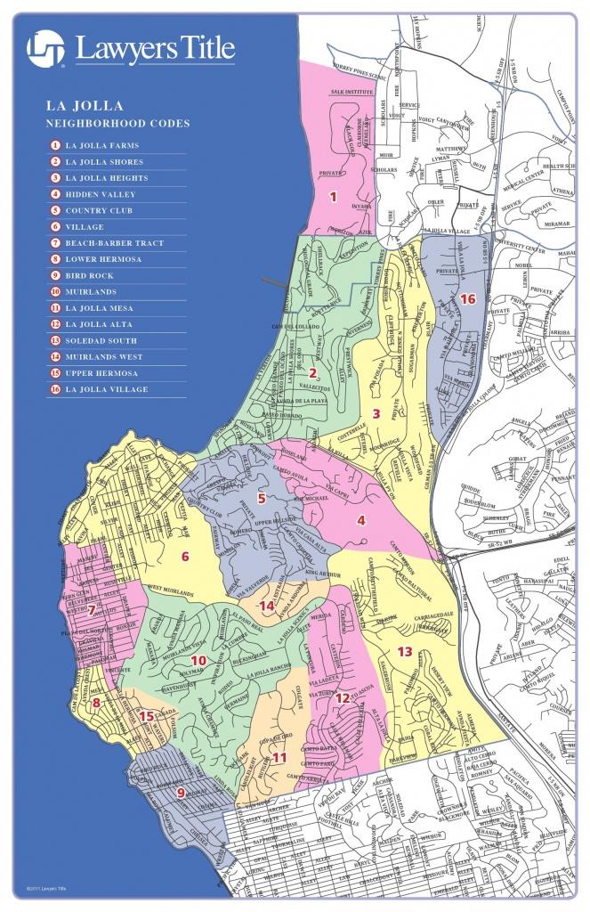 Map Of La Jolla, California Neighborhoods And La Jolla Weekend Open - La Jolla California Map