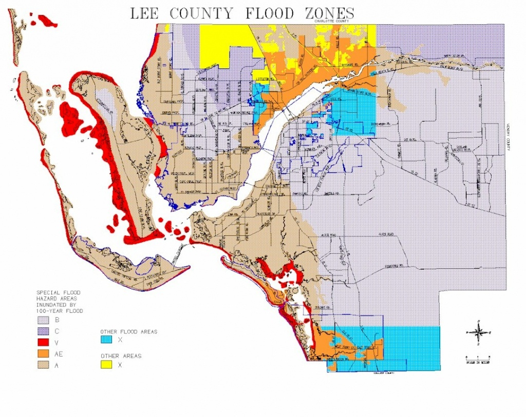 Map Of Lee County Flood Zones - Where Is Fort Myers Florida On A Map