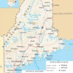 Map Of Maine | Maine State Map   A Large Detailed Map Of Maine State   Printable Road Map Of Maine