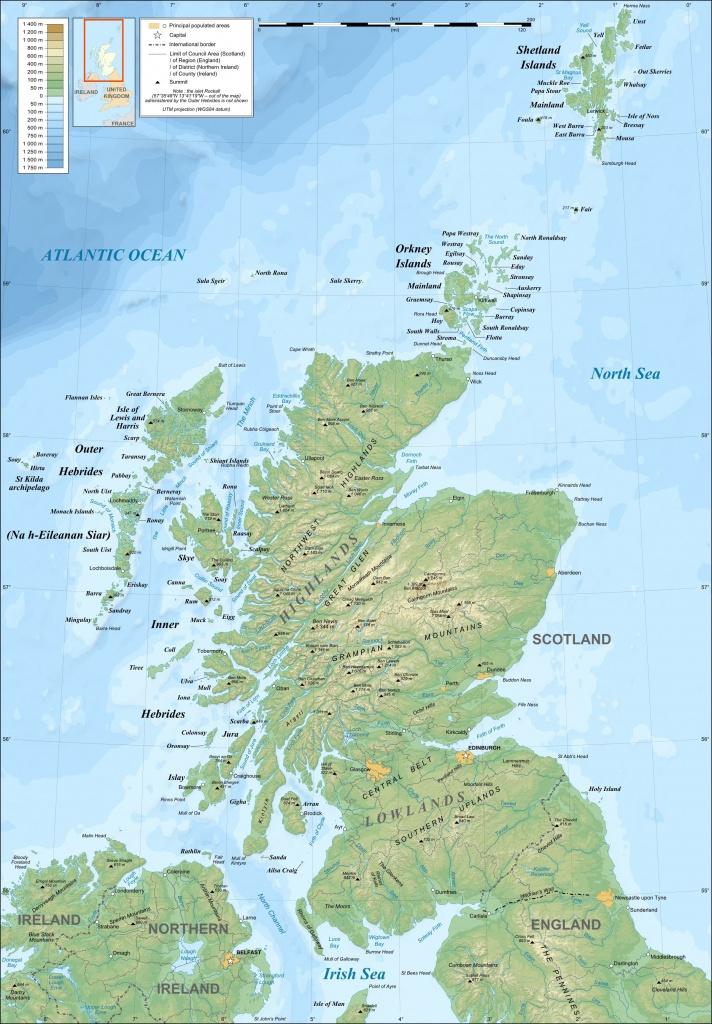 Map Of Mainland Scotland, Northern England And Ireland And - Printable Map Of Ireland And Scotland