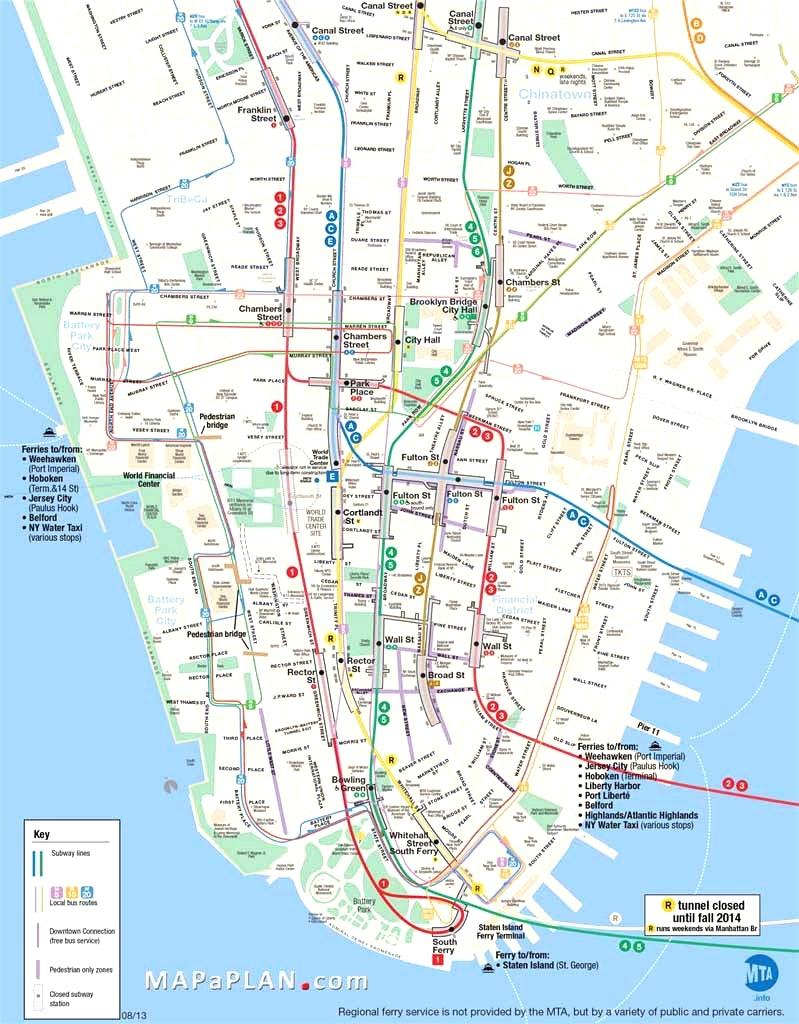 Map Of Manhattan Nyc And Travel Information | Download Free Map Of - Printable Map Of Downtown New York City