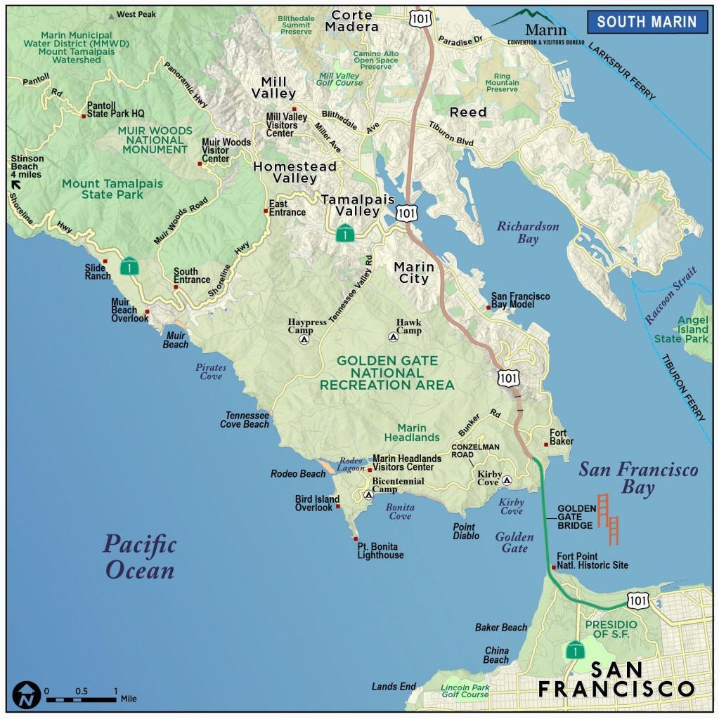 Map Of Marin County California | Secretmuseum - Marin County California Map