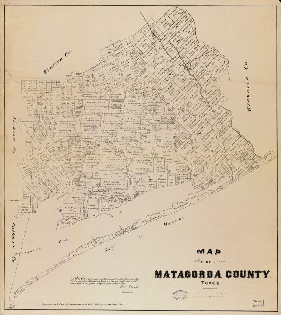Map Of Matagorda County, Texas | Library Of Congress - Map Of Matagorda County Texas