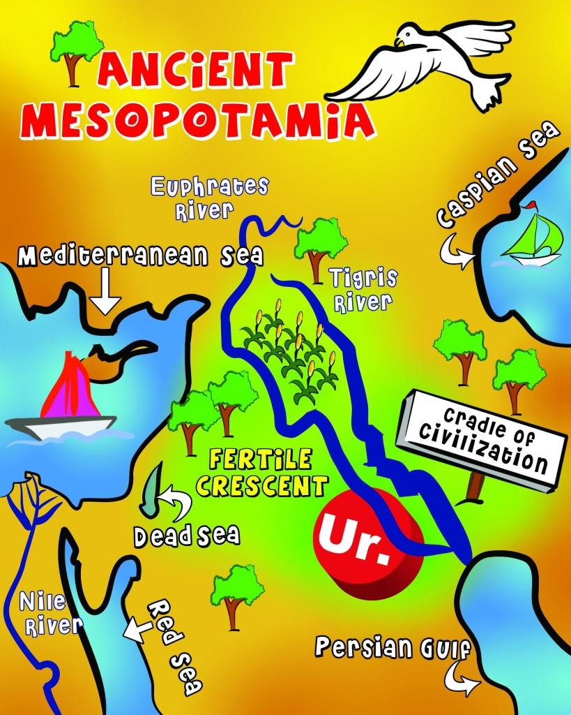 Map Of Mesopotamia | Mesopotamia | Ancient Mesopotamia, Ancient - Free Printable Map Of Mesopotamia