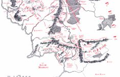 Map Of Middle-Earth – J.r.r. Tolkien – Printable Lord Of The Rings Map