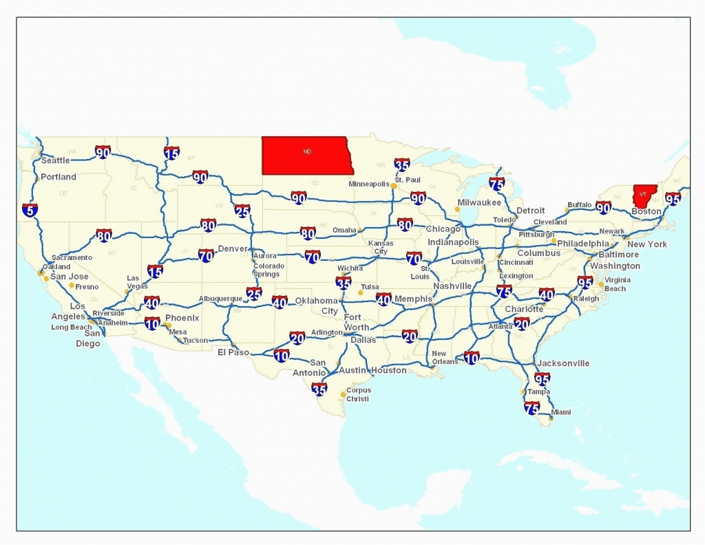 Map Of Milwaukie Oregon Us Map With Highways New Printable Us Map - Printable Us Map With Interstate Highways