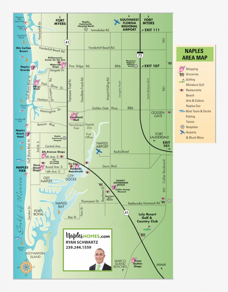 Map Of Naples, Florida - Map Of Naples Florida Neighborhoods - Free - Map Of Naples Florida Neighborhoods