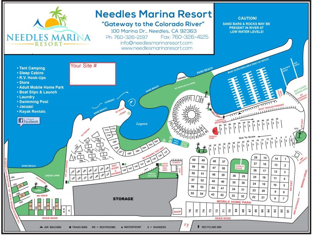 Map Of Needles Marina Resort On The Colorado River - California Rv Resorts Map