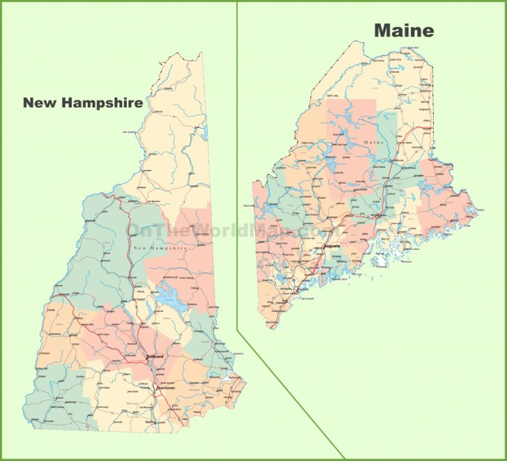 Printable Map Of Maine