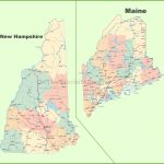 Map Of New Hampshire And Maine   Printable Road Map Of Maine