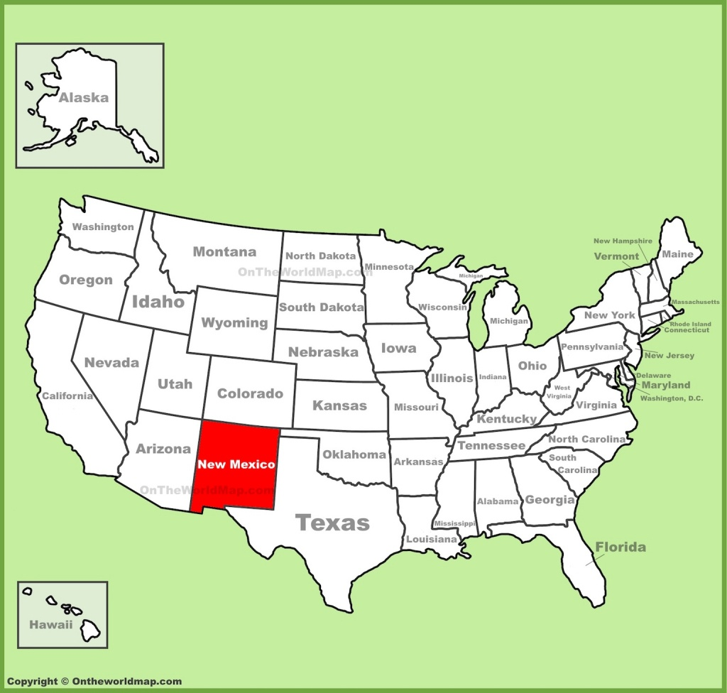 Map Of New Mexico Free And Printable - Printable Map Of New Mexico