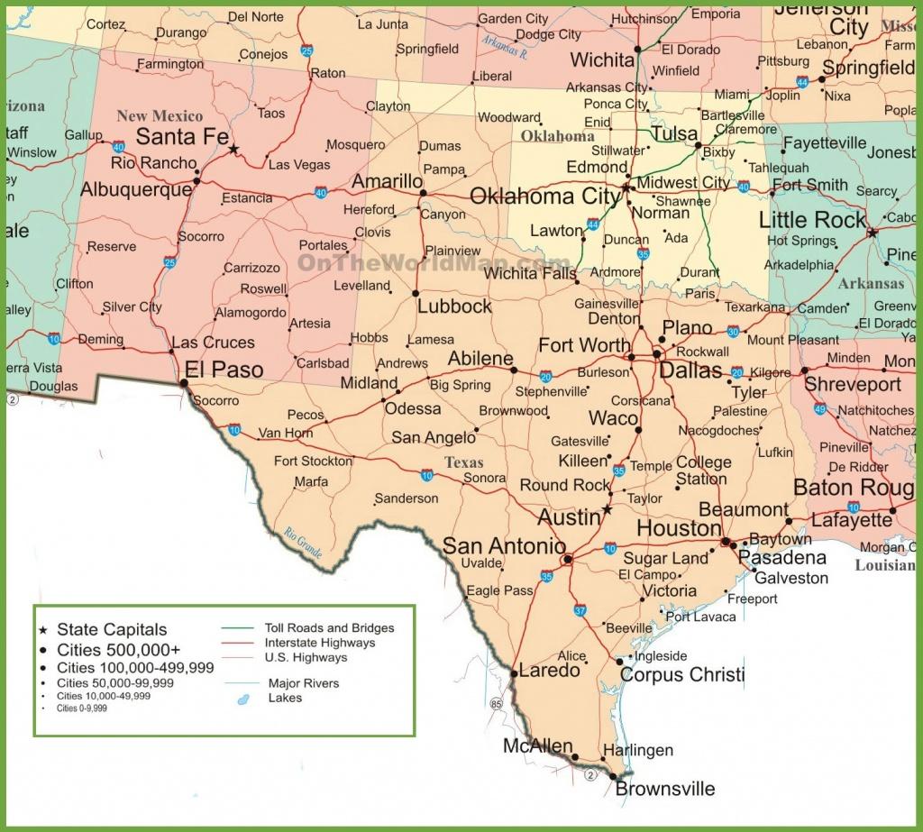 Map Of New Mexico, Oklahoma And Texas - Map Of Oklahoma And Texas