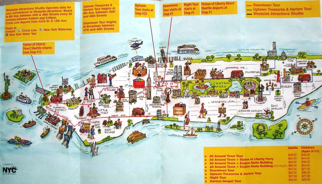 Map Of New York City Attractions Printable | Manhattan Citysites - Manhattan Map With Attractions Printable