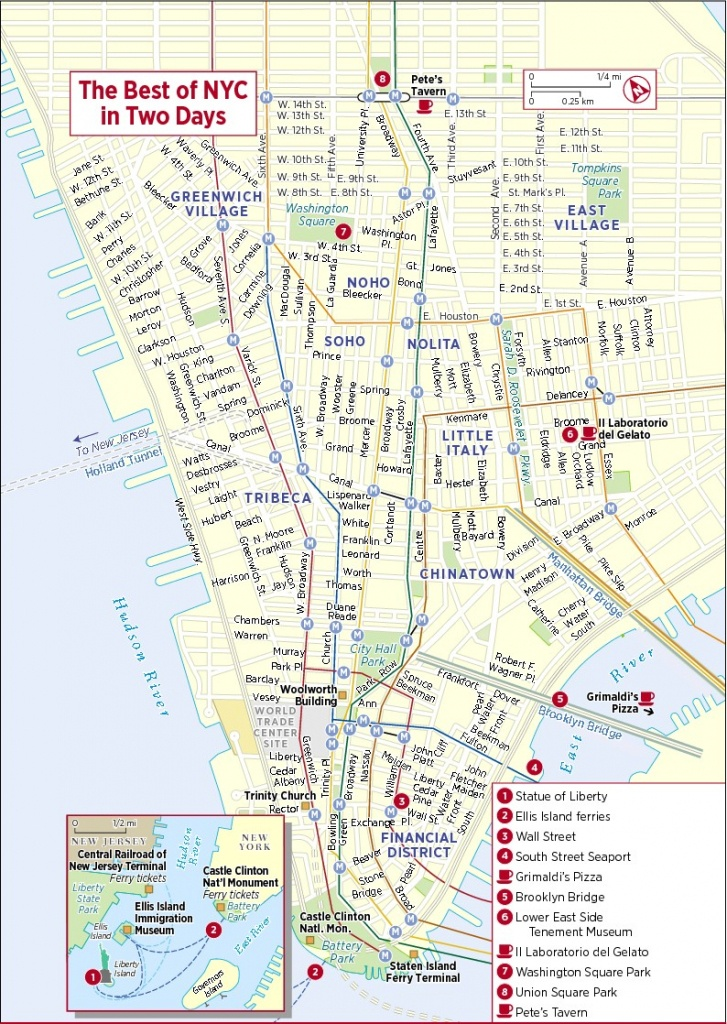 Map Of New York City Attractions Printable | Travel Maps And Major - New York Downtown Map Printable