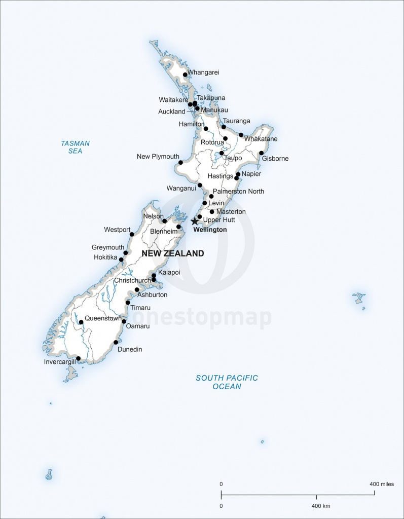 Map Of New Zealand Political In 2019 | Maps Of Australia - Continent - Printable Map Of New Zealand