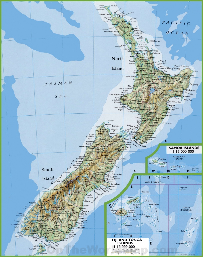 Map Of New Zealand With Cities And Towns - Printable Map Of New Zealand