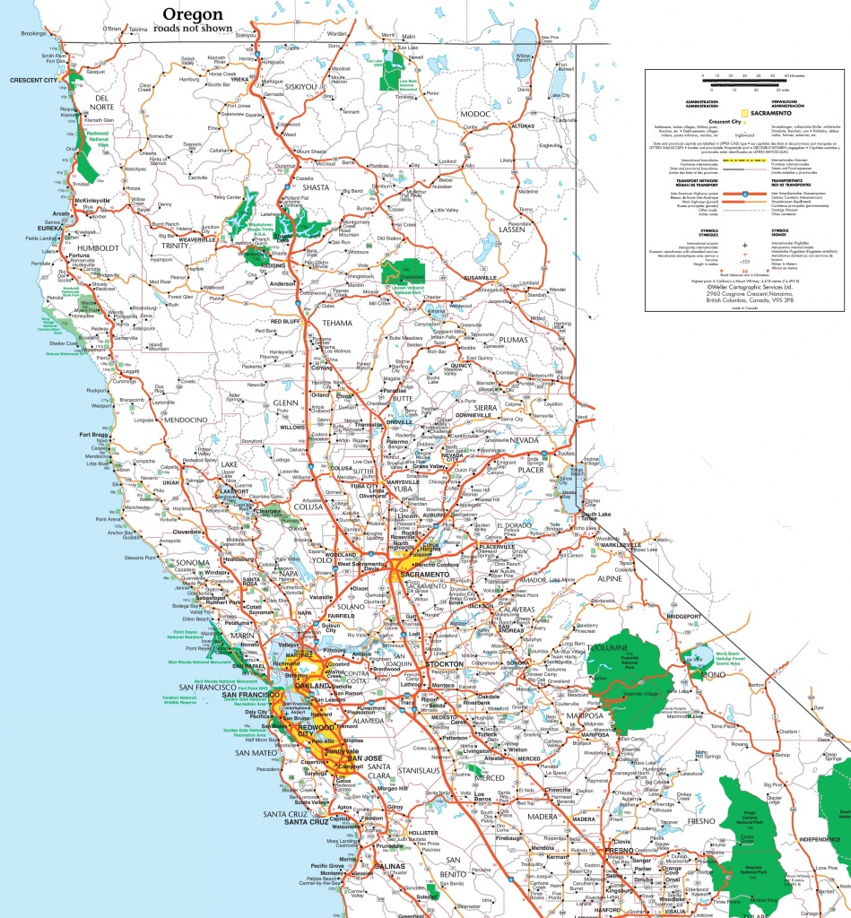 Map Of Northern California - Map Of Northern California Cities