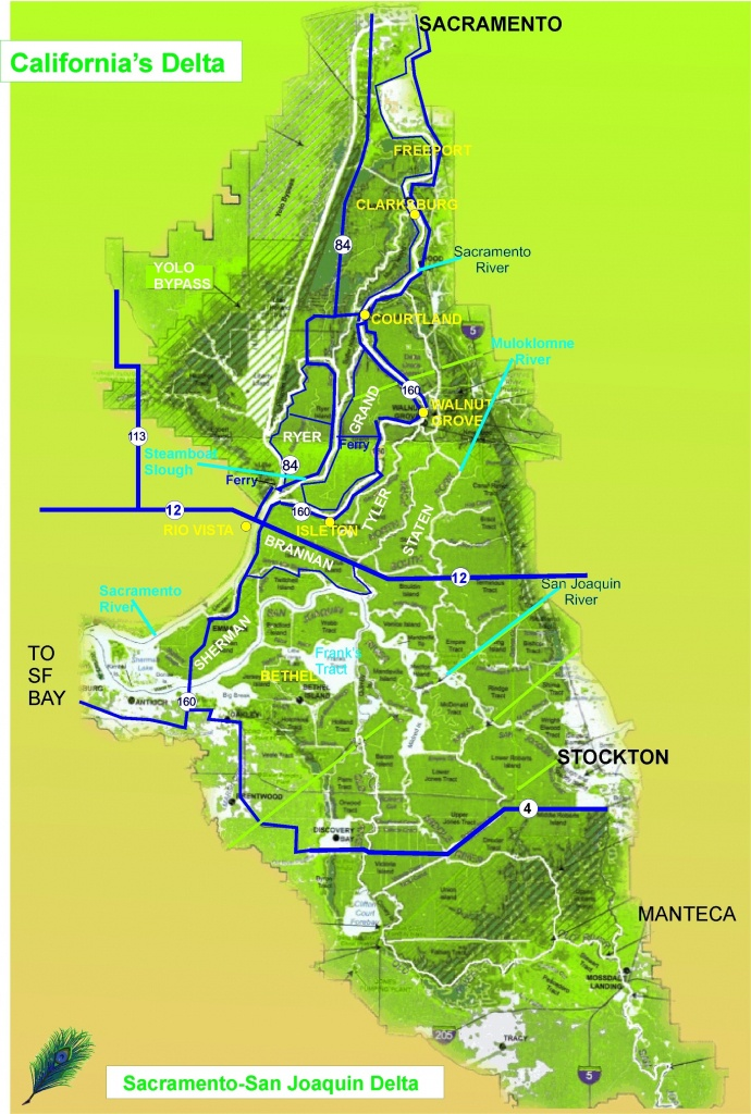 Map Of Northern California Waterways – Map Of Usa District - Map Of California Delta Waterways