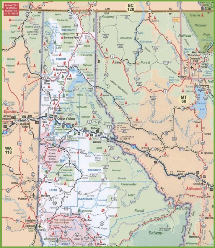 Printable Map Of Idaho