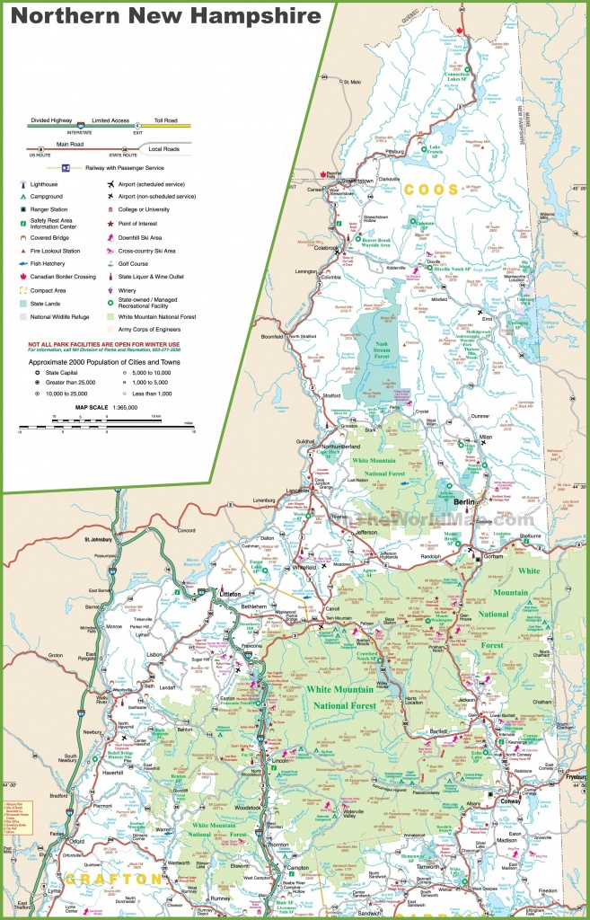 Map Of Northern New Hampshire - Printable Road Map Of New Hampshire