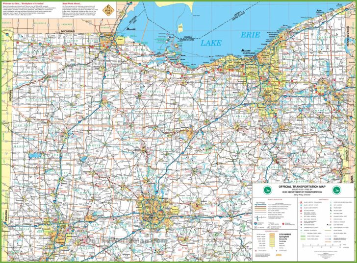 Printable Map Of Ohio