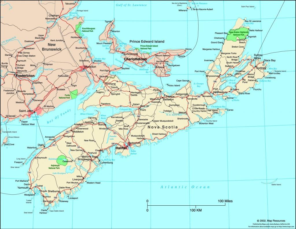 Map Of Nova Scotia Canada | Compressportnederland - Printable Map Of Nova Scotia Canada