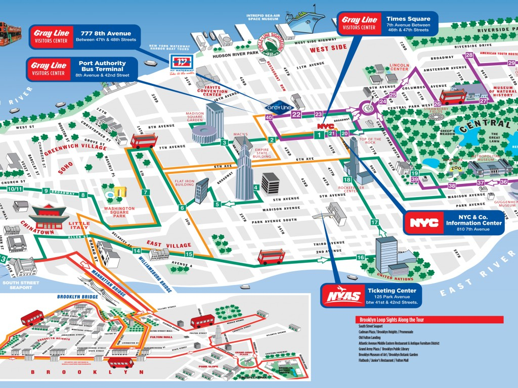 Map Of Ny City Attractions | Sin-Ridt - Printable Map Of New York City Tourist Attractions