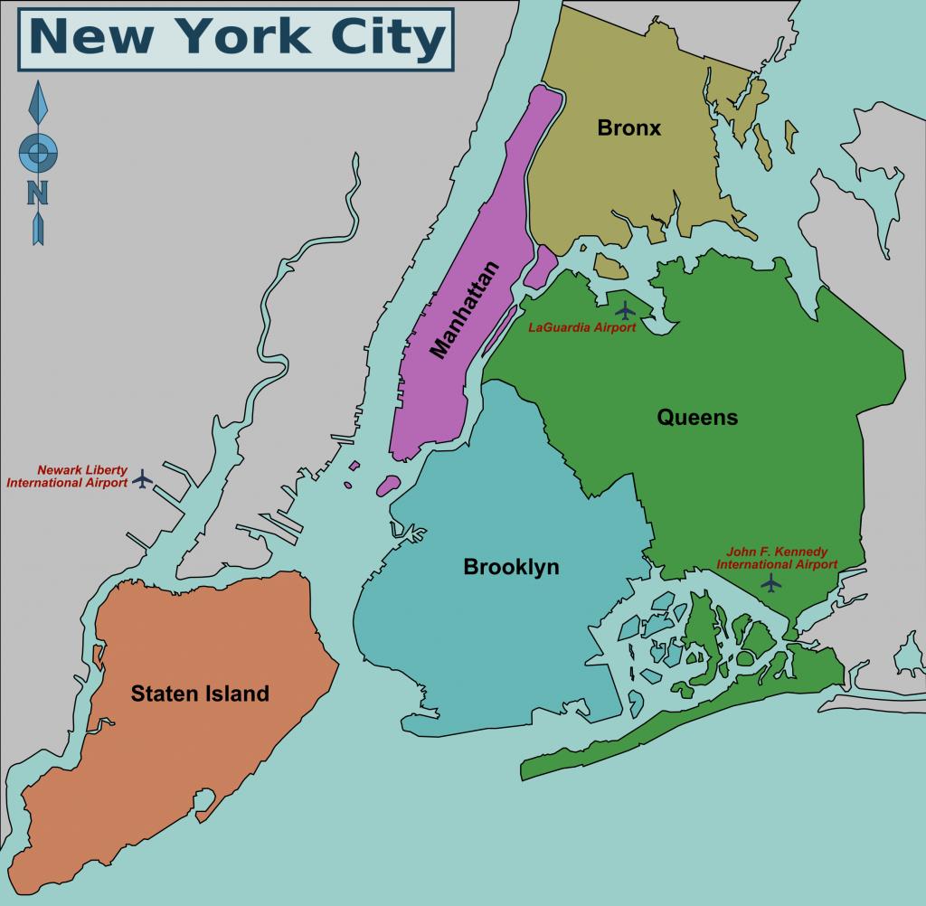 Map Of Nyc 5 Boroughs & Neighborhoods - Map Of The 5 Boroughs Printable