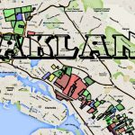 Map Of Oakland Gangs & Hoods For Google Map Of Oakland California   Oakland California Map