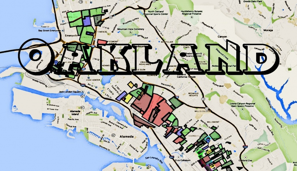 Map Of Oakland Gangs & Hoods For Google Map Of Oakland California - Oakland California Map