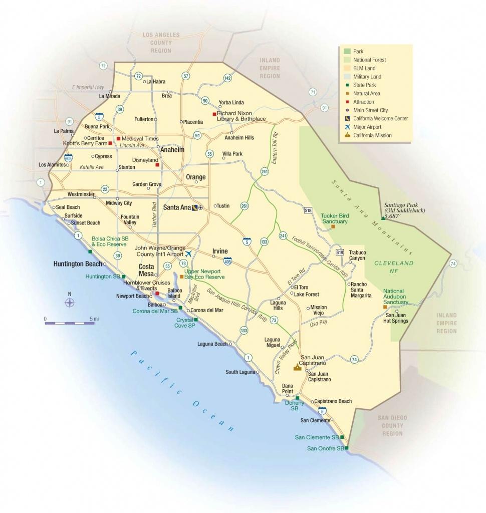Map Of Orange County California Beaches – Map Of Usa District - Newport California Map
