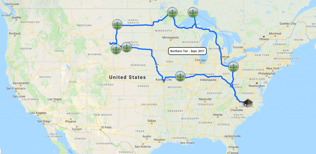Map Of Our Trips To All 60 National Parks - Journey To All National - National Parks In Northern California Map