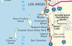 Map Of Pacific Coast Through Southern California. | Southern – Map Of Pch 1 In California