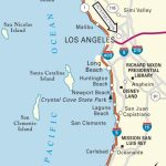 Map Of Pacific Coast Through Southern California. | Southern   Map Of Southern California Coastline