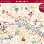 Map Of Paris Tourist Attractions, Sightseeing & Tourist Tour   Printable Walking Map Of Paris