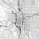 Map Of Portland, Oregon | Hebstreits Sketches   Printable Map Of Portland Oregon