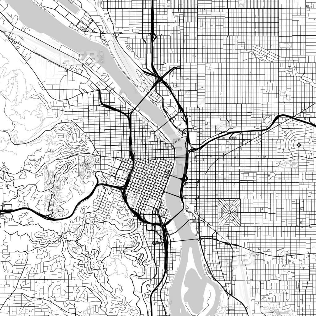 Map Of Portland, Oregon | Hebstreits Sketches - Printable Map Of Portland Oregon