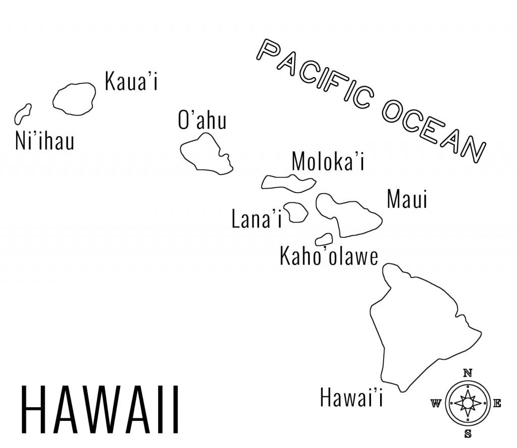 Map Of Printable Map Hawaiian Islands, - World Map Database - Printable Map Of Hawaii