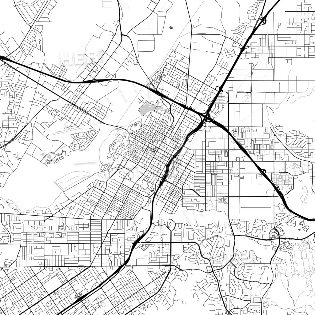 Map Of Riverside, California | Hebstreits Sketches - Printable Map Of Riverside Ca