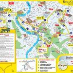 Map Of Rome Tourist Attractions, Sightseeing & Tourist Tour   Central Rome Map Printable