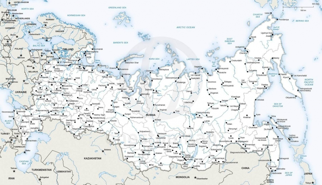 Map Of Russia Political - Printable Map Of Russia