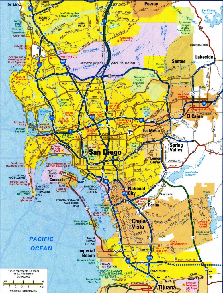 Map Of San Diego City And Travel Information | Download Free Map Of - City Map Of San Diego California
