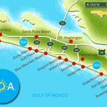 Map Of Scenic Highway 30A/south Walton, Fl Beaches | Florida: The   Destin Florida Map Of Beaches
