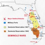 Map Of Seminole Wars In Florida | Family Tree | Seminole Indians   Native American Tribes In Florida Map